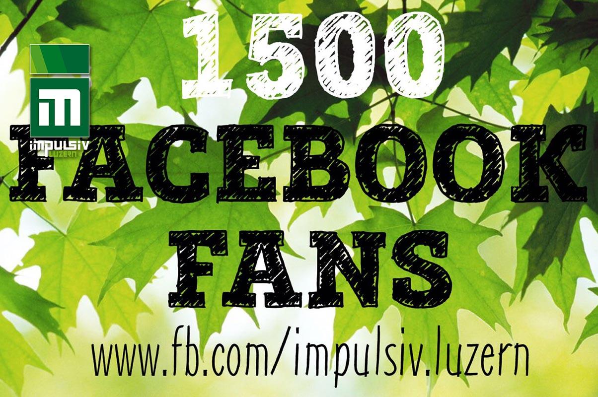 1500 Facebook Fans