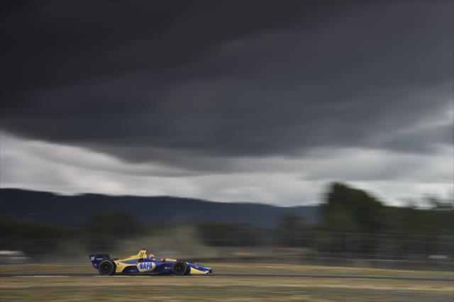 Rossi fue el mejor Honda (FOTO: Chris Owens/IMS, LLC Photo)