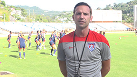 B.J. Snow US U17WNT head coach IB