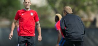 Clint Dempsey – squaring up and ready to face Guatemala