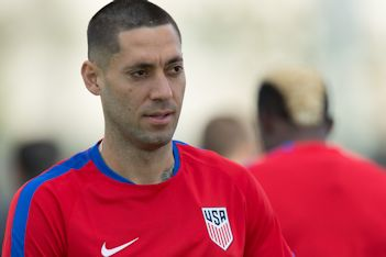 Clint Dempsey with the USMNT in Miami, FL on Mar. 22, 16.