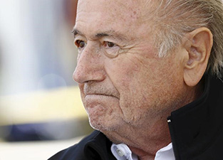 FIFA President Sepp Blatter.  Photo by Denis Balibouse.