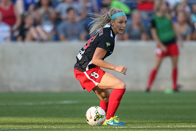 Bridgeview, IL - Julie Johnston played on September 6, 2015 as The Chicago Red Stars tied the Houston Dash by the score of 1-1 at Toyota Park.