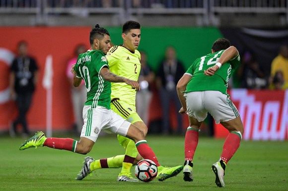 Houston, TX - Monday June 13, 2016: Jesus Manuel Corona goal during a Copa America Centenario Group D match between Mexico and Venezuela.