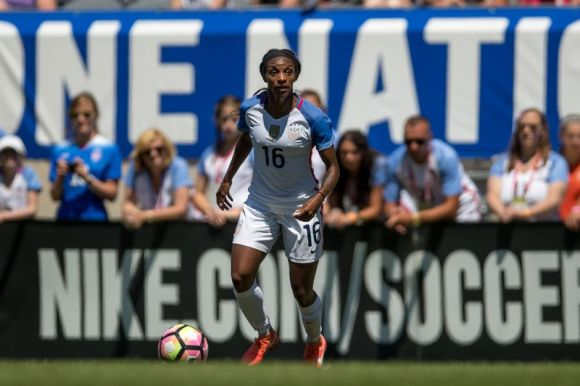 On July 9, 2016 in Chicago, Ill - Crystal Dunn showed why she made the US Olympic team. Although not a member of the 2015 World Cup team, expectations are high for Dunn.