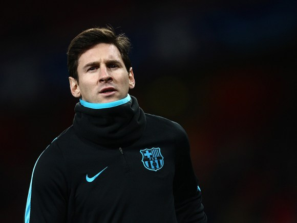 Lionel Messi of FC Barcelona before the FC Barcelona vs. Arsenal match on January 26, 2016 at Emirates Stadium. Photo by BPI Photos.