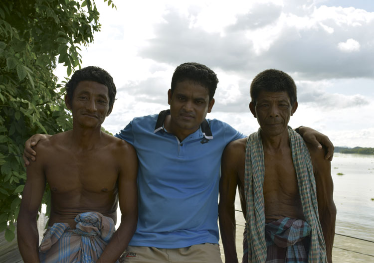 With tribal people