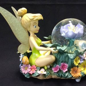 Disney Store Tinker Bell Snow Globe and Music Box