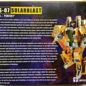 Transformers Solarblast Action Figure Impossible Toys