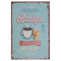 "Metallschild ""Breakfast"""