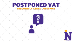 Article design cover for frequently asked postponed import vat tax questions