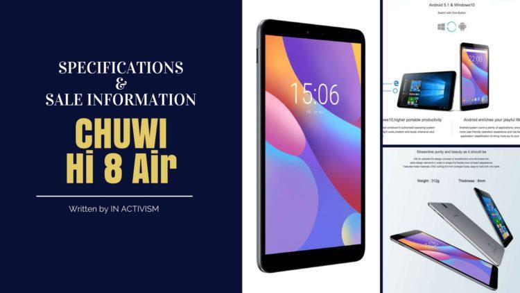 CHUWI Hi 8 Air スペック詳細・セール情報|安さがウリのデュアルOSエントリータブレット