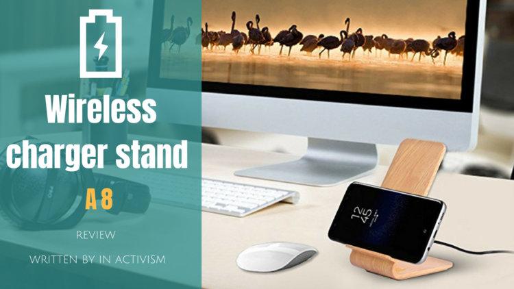 木目調ワイヤレス充電スタンド 実機レビュー|Qi対応ウッドデザインがオシャレな無線充電器
