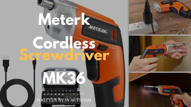 Meterk 充電式電動ドライバーセット 実機レビュー・評価・感想|面倒な家具の組み立てやちょっとしたDIYにピッタリ