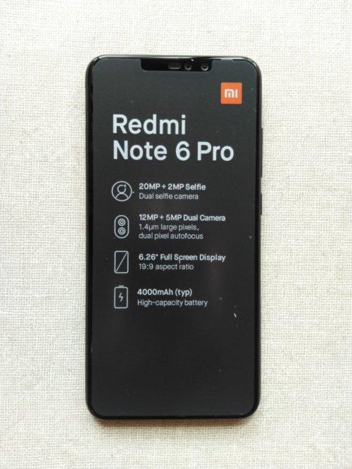 Xiaomi Redmi Note 6 Pro筐体デザイン前面