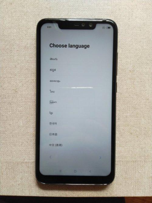 Xiaomi Redmi Note 6 Pro言語選択
