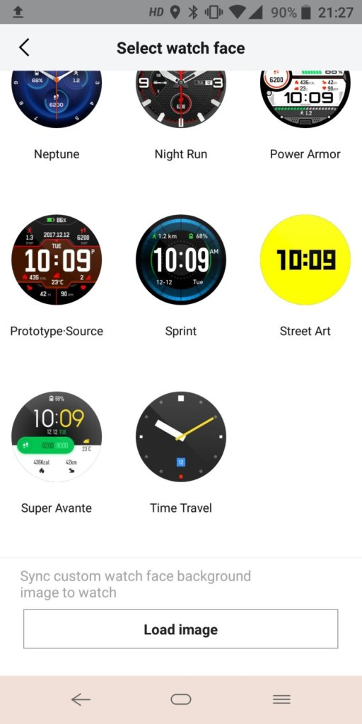 Xiaomi Huami Amazfit Stratos Select watch face