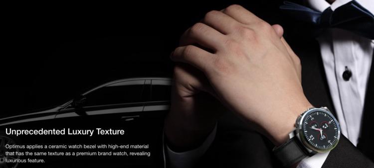 Kospet Optimus Pro ベゼルにメタルをあしらったセラミックボディ