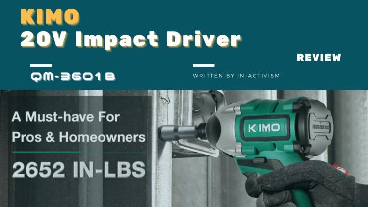 KIMO コードレスインパクトドライバー 20V QM-3601B レビュー|ブラシレスモーター採用で約1万円!日曜大工他DIYにおすすめなコスパモンスター
