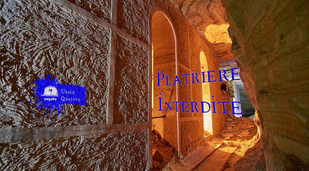 Plâtrière souterraine interdite