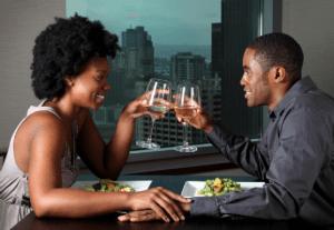black couple on date1