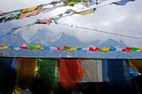 Flying Prayer Flags