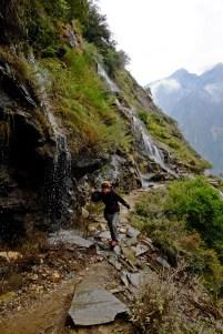 Run under Waterfall