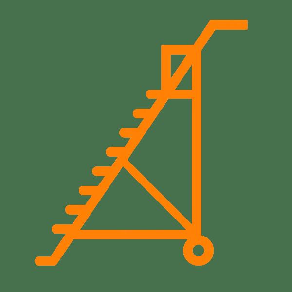 scale speciali con anticaduta e piattaforma