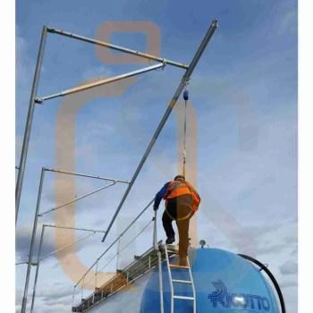 sicurezza baie di carico rotaia su struttura prefabbricata