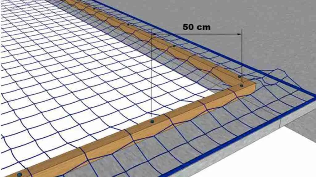 Rete per lucernari in poliammide - Tipo M