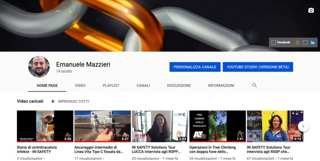 canale youtube IN-SAFETY