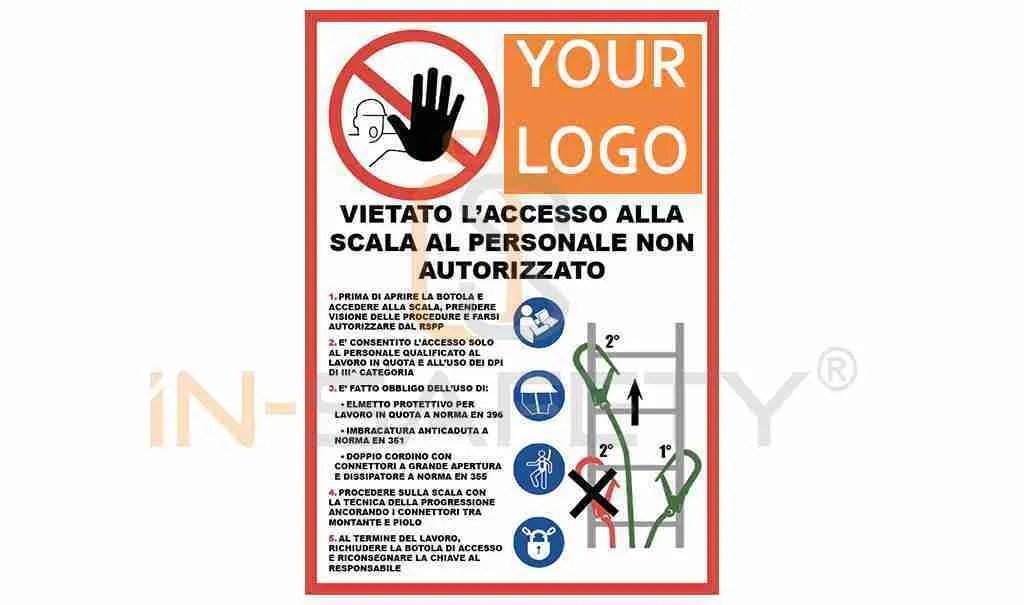 botola scala - cartello di divieto di accesso ai non autorizzati
