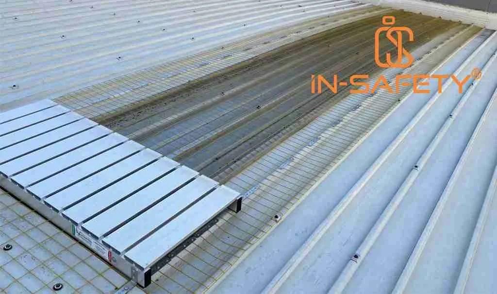 reti anticaduta permanenti al servizio di impianti anticaduta su copertura metallica