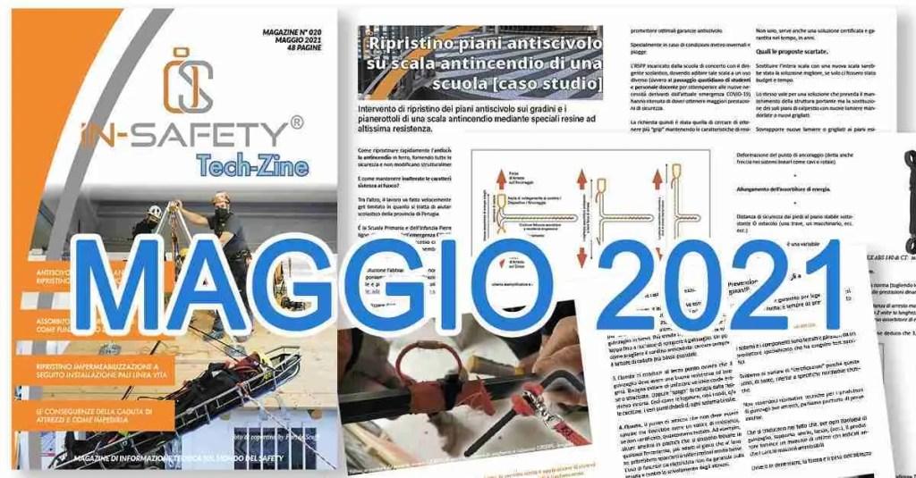 Immagine di copertina Tech-Zine Magazine di Maggio 2021 con alcune immagini interne e banner con il mese di maggio 2021