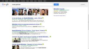 Glööckler bei Google vorne