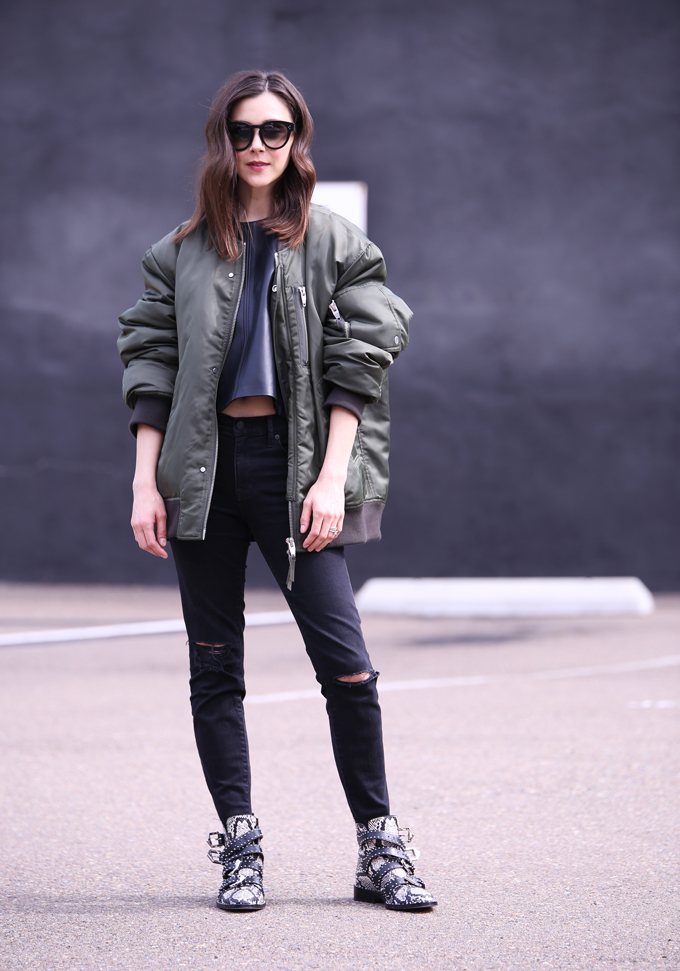 4c8e200a6c63b Bomber Jacket + Buckled Boots
