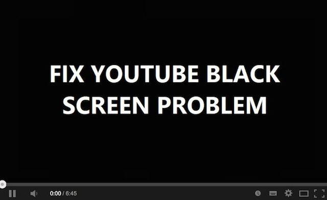 YouTube Black Screen