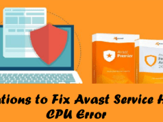 Avast service high cpu