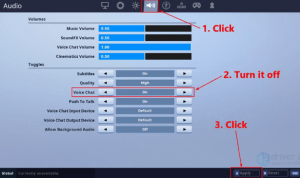 Fortnite Voice Chat Not Working