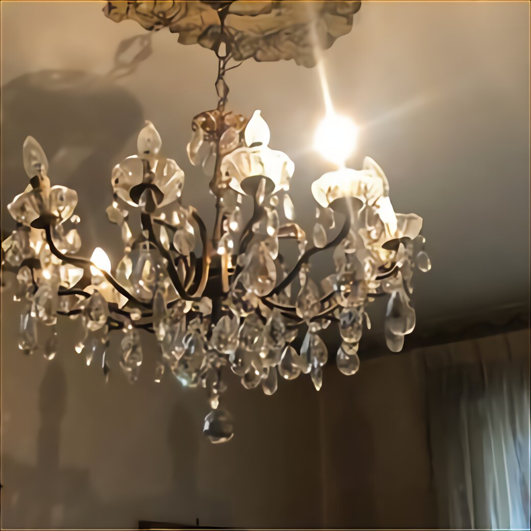 lampadario mazzega anni '60, mazzega chandelier from the 1960s. Lampadario Gocce Cristallo Usato In Italia Vedi Tutte I 107 Prezzi