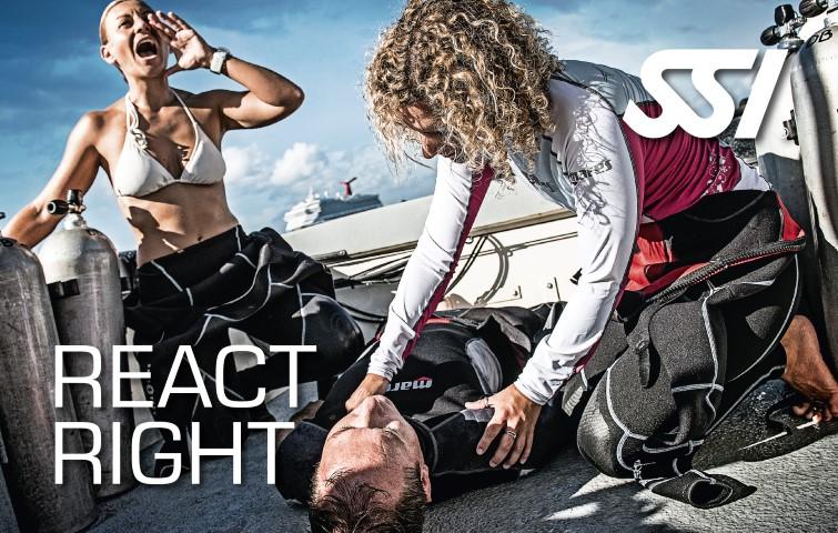 React Right SSI specialty O2 zuurstof toedienen AED bediener Eerste hulp Reanimatie