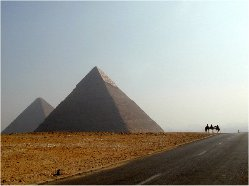 5.Throat chakra: Great Pyramid of Giza and Mt Sinai, Egypt; Mt of Olives, Jerusalem