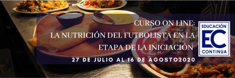 Curso de nutricion del futbolista a nivel iniciacion