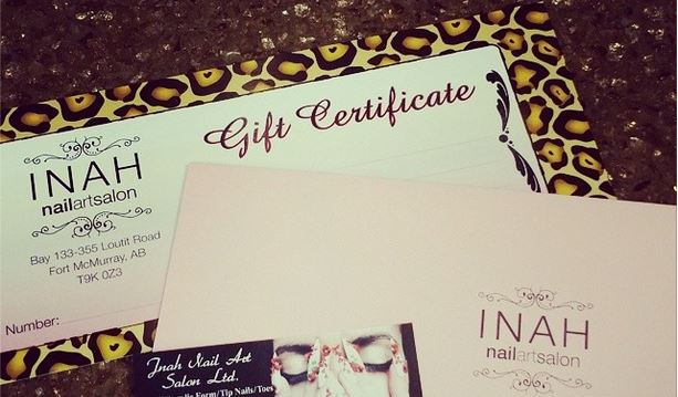 You Can Also Purchase A Gift Card By Phone At 780 790 1942 Insram Inah Nail Art Salon