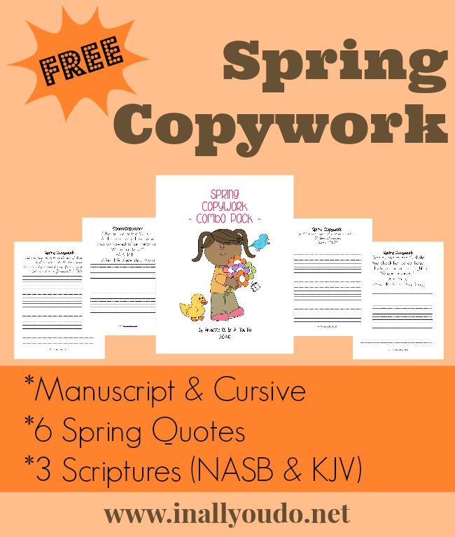 Spring Copywork Quotes Amp Scripture