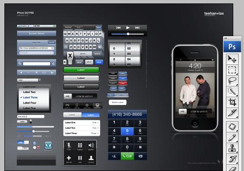 iPhone GUI PSD