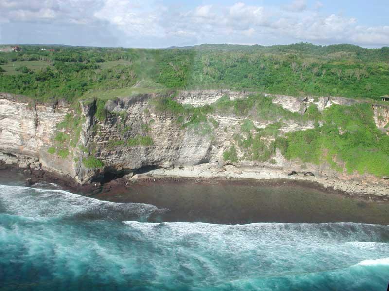 Uluwatu Cliffs helicopter charter bali