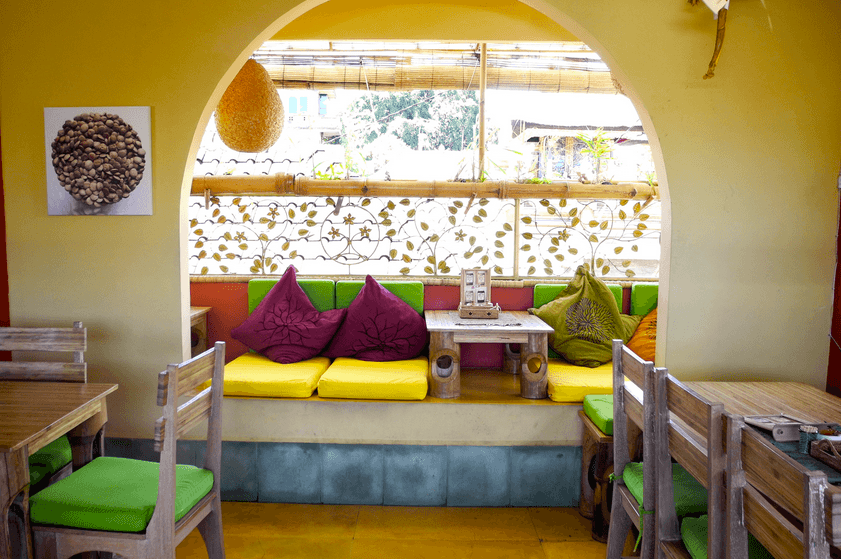 Earth Cafe couches in Bali