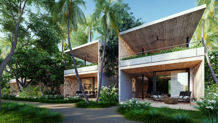 two-story loft villa 360 ocean views BASK Gili Meno