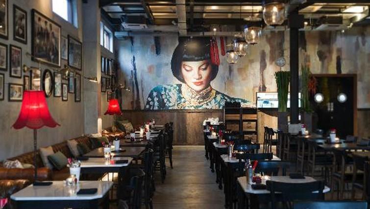Interior of Mama San restaurant in Bali